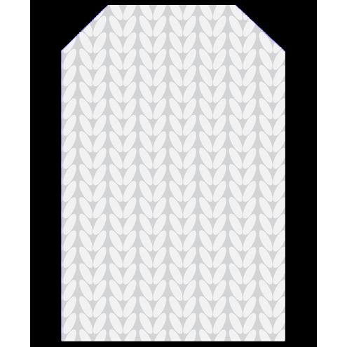 Картонная бирка домик, косы (серые)
