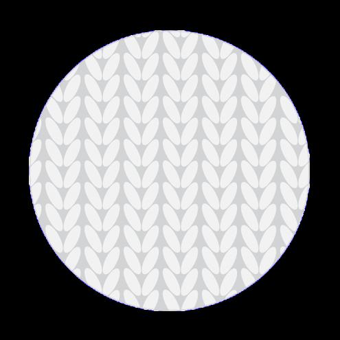 Картонная бирка круглая, косы (серые)
