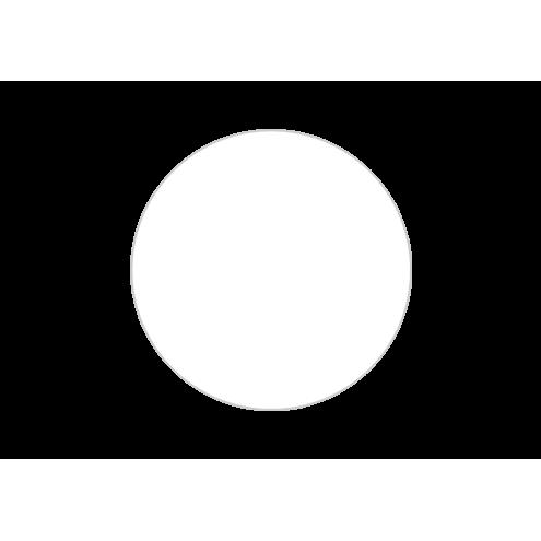 Картонная бирка круглая, белая