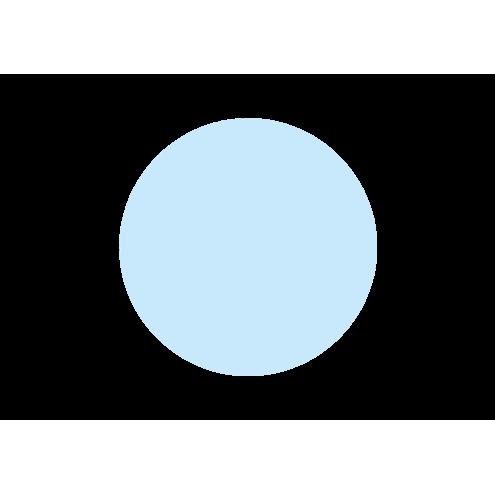 Картонная бирка круглая, голубая