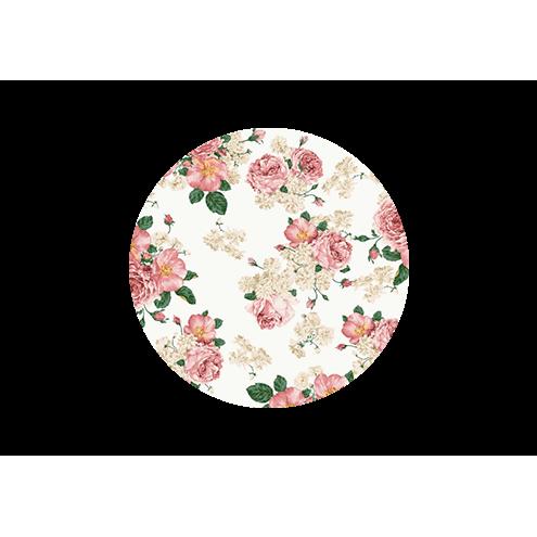 Наклейка круглая, цветы (вид 1)