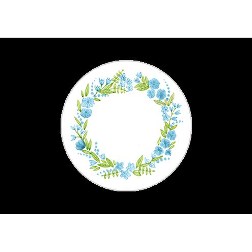 Наклейка круглая, венок (вид 1)