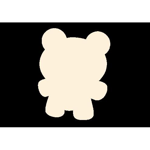 Картонная бирка мишка, бежевый