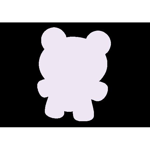 Картонная бирка мишка, бледно-розовый