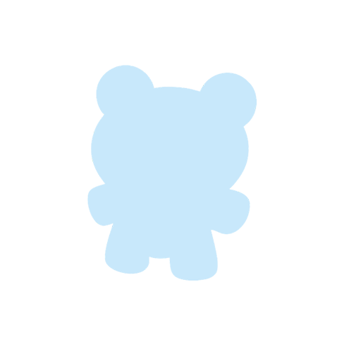 Картонная бирка мишка, голубой