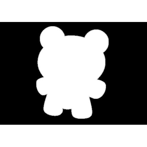 Картонная бирка мишка, белый