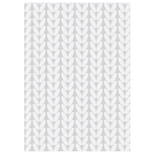 Картонная бирка прямоугольная, косы (серые)