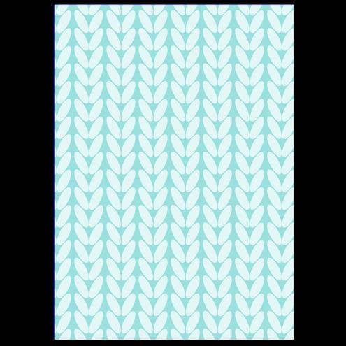 Картонная бирка прямоугольная, косы (голубые)