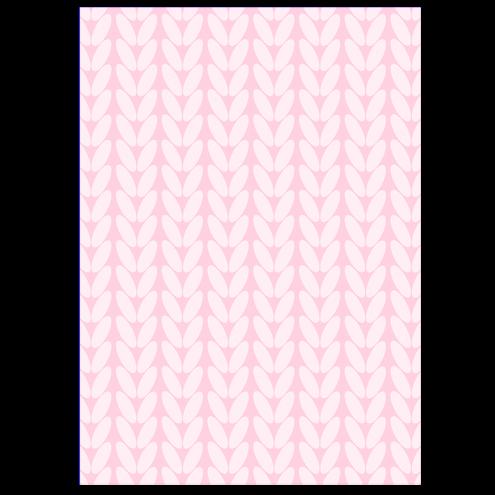 Картонная бирка прямоугольная, косы (розовые)