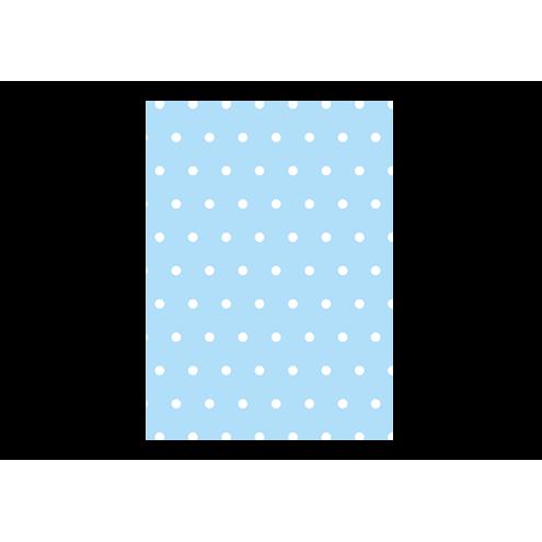 Картонная бирка прямоугольная, голубая (горох)