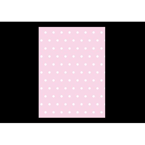 Картонная бирка прямоугольная, розовая (горох)