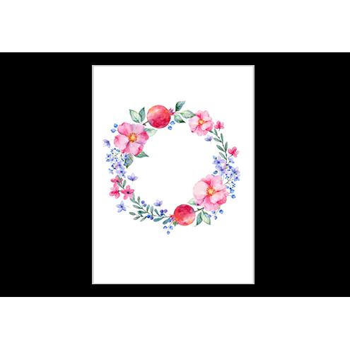 Картонная бирка прямоугольная, венок (вид 4)