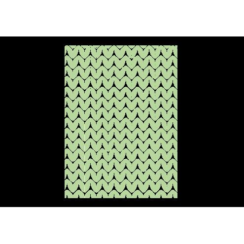 Картонная бирка прямоугольная, зелёный лес