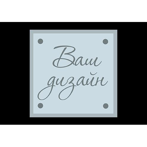 Квадратная кожаная бирка с индивидуальным дизайном (джинс)