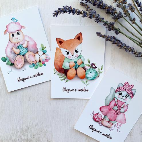 Набор открыточек Связано с любовью
