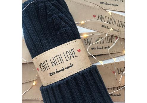 Бумажные этикетки Knit with love