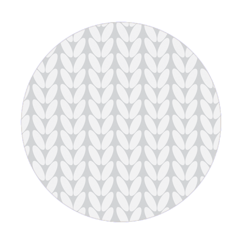 Наклейка круглая, косы (серые)