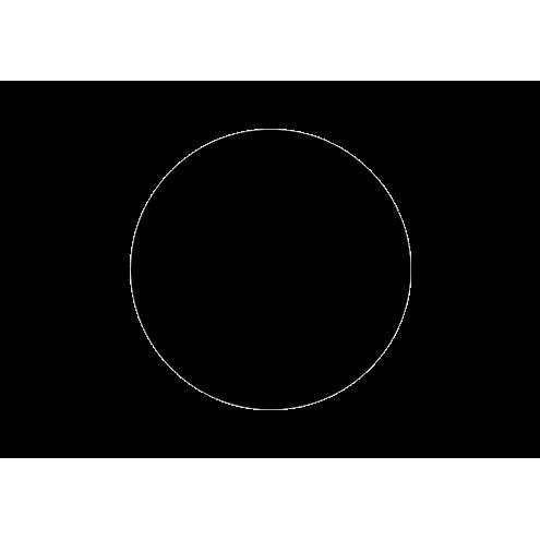 Наклейка круглая, черная